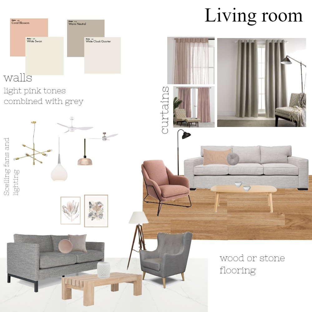 living room Interior Design Mood Board by georgia09 on Style Sourcebook