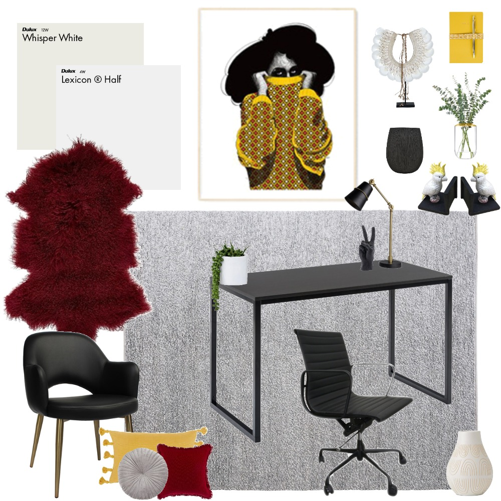 Modern Office Interior Design Mood Board by Yara Interiors on Style Sourcebook