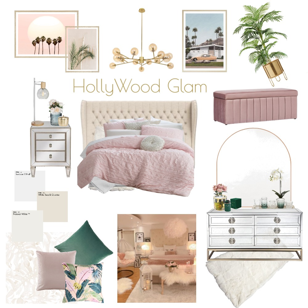 HollyWood Glam 3 Interior Design Mood Board by Ché Designs on Style Sourcebook