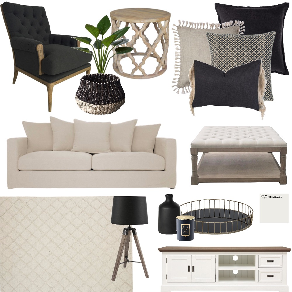 LIVING ROOM Interior Design Mood Board by Breana on Style Sourcebook