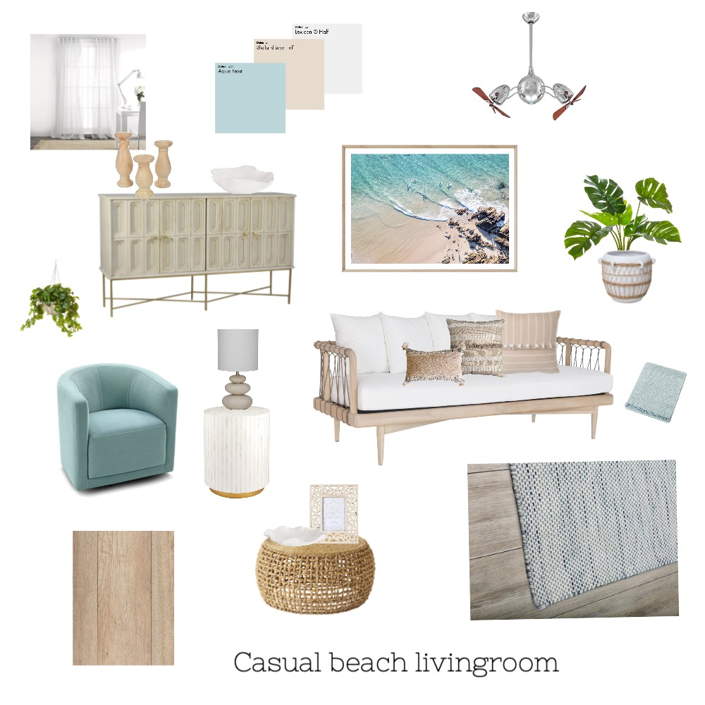 beach living Interior Design Mood Board by janet.hope on Style Sourcebook