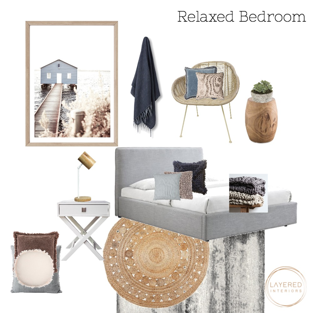 Relaxed Bedroom Interior Design Mood Board by JulesHurd on Style Sourcebook