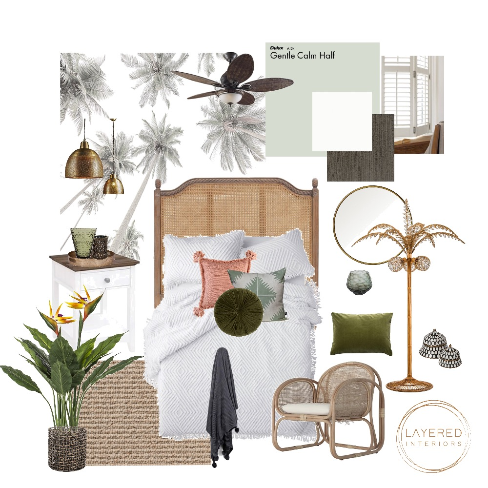 Relaxed Resort Guest Bedroom Interior Design Mood Board by JulesHurd on Style Sourcebook
