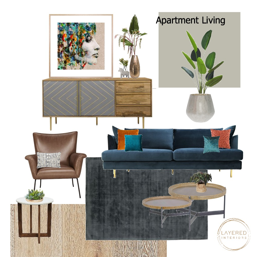 Apartment Living Interior Design Mood Board by JulesHurd on Style Sourcebook
