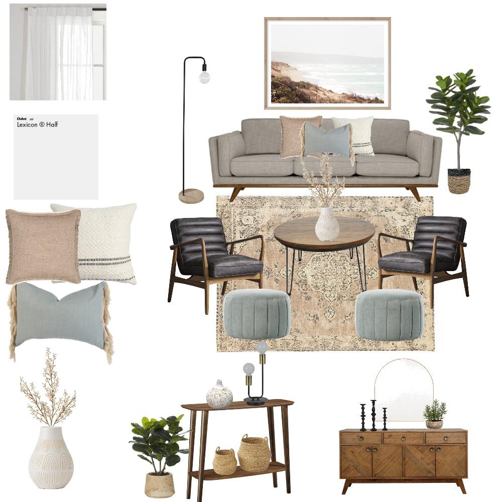 Mid-Century Modern Living Room Interior Design Mood Board by Julissa Rodrigez Interior Design on Style Sourcebook
