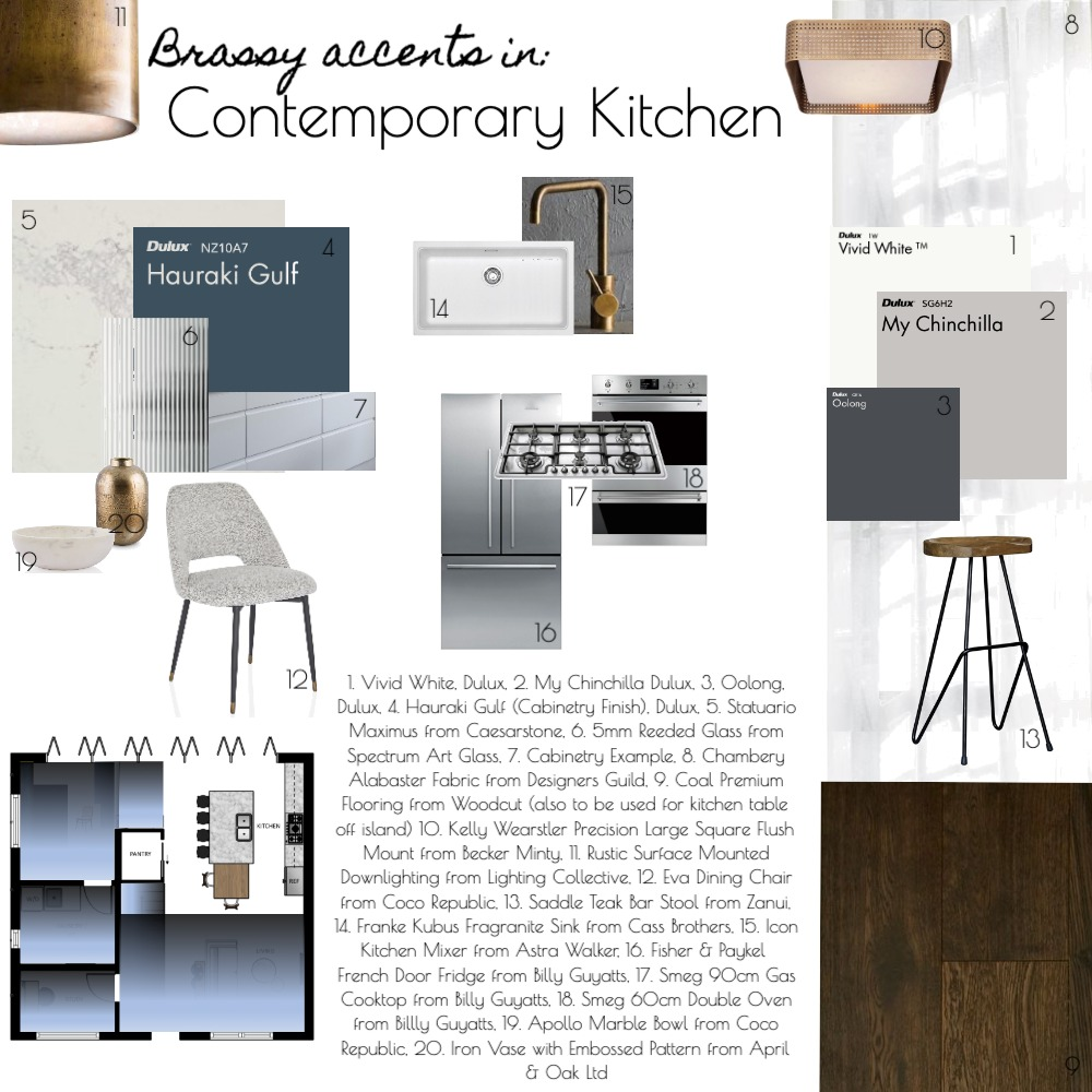 Kitchen Interior Design Mood Board by A Design House on Style Sourcebook