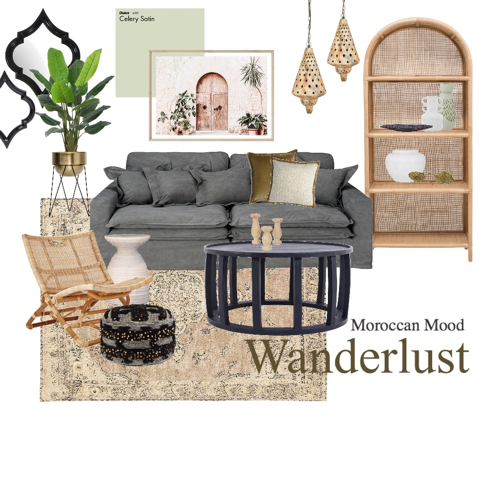 Moroccan Mood Interior Design Mood Board by Visual Addict on Style Sourcebook