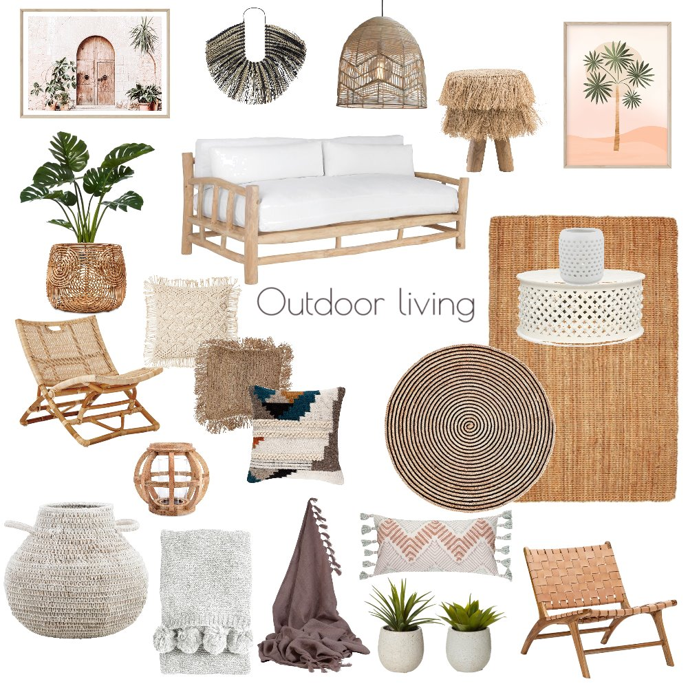 Outdoor Living room Interior Design Mood Board by Lisa Olfen on Style Sourcebook