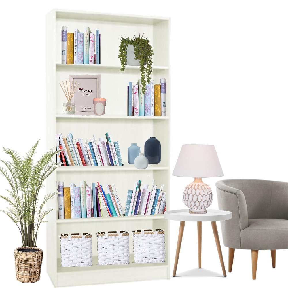 bookshelf styling Interior Design Mood Board by stephc.style on Style Sourcebook