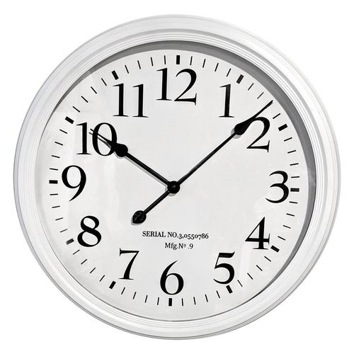 62cm Trey Wall Clock Colour: White