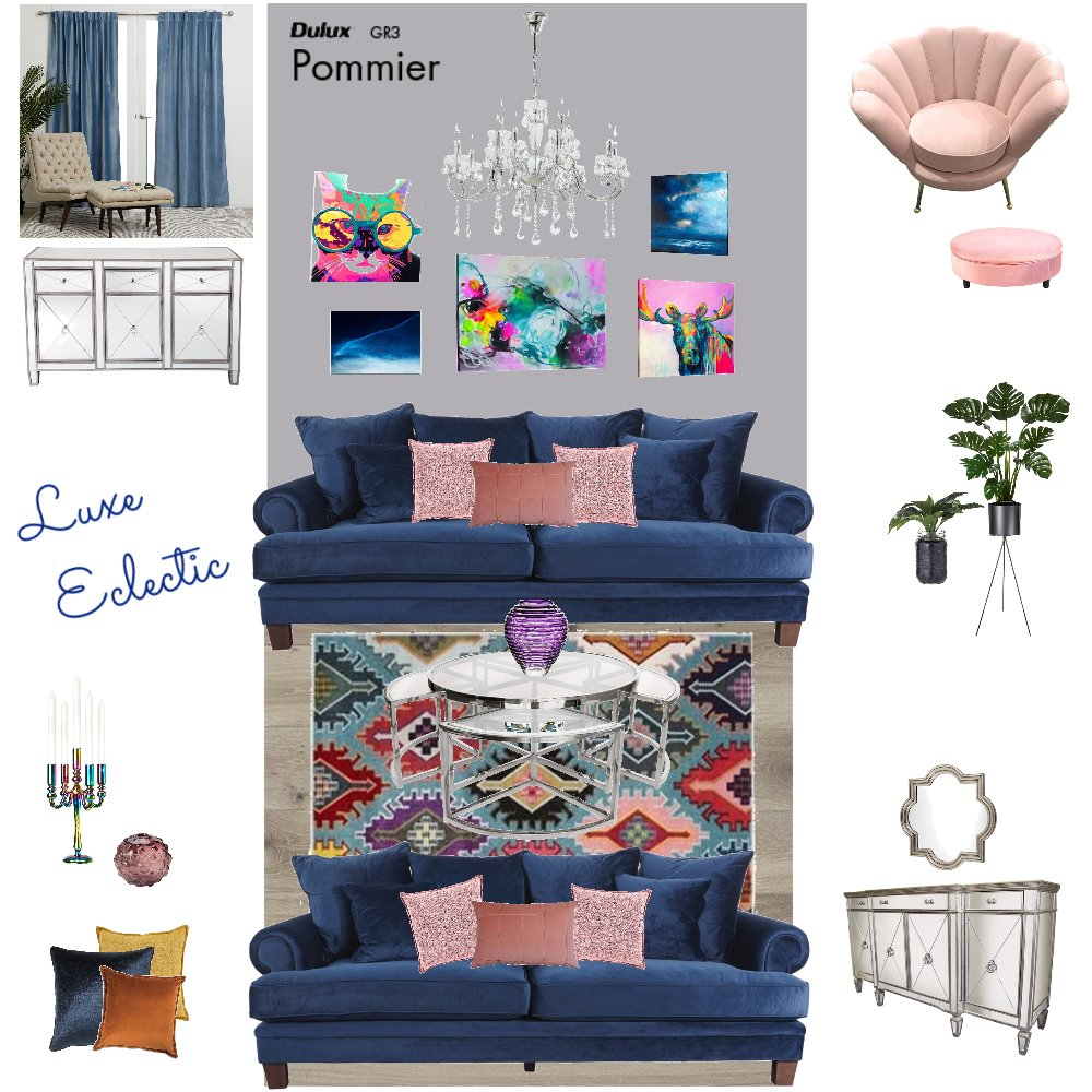Luxe Eclectic Interior Design Mood Board by njparker@live.com.au on Style Sourcebook
