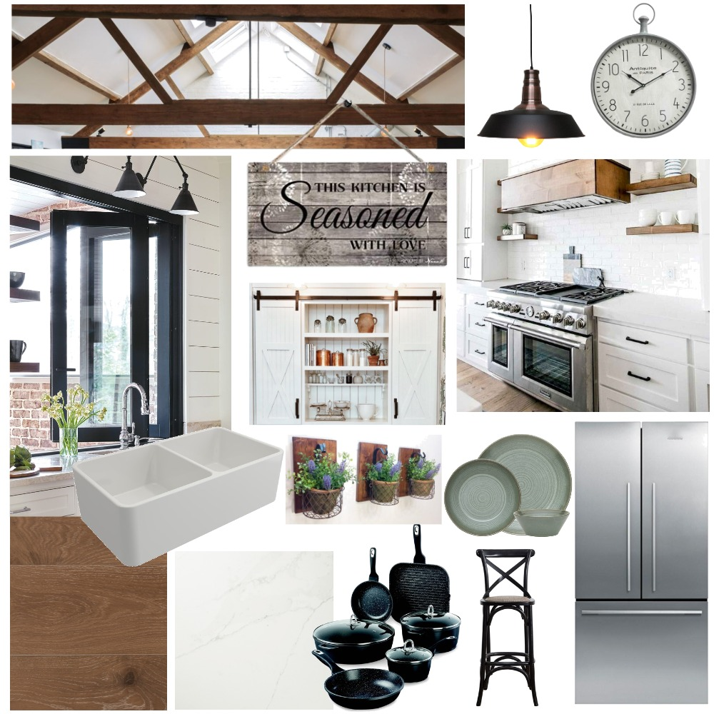 Modern Farmhouse Interior Design Mood Board by TashFosker on Style Sourcebook