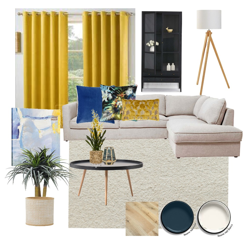 My Triadic Living Area Interior Design Mood Board by Gale Carroll on Style Sourcebook