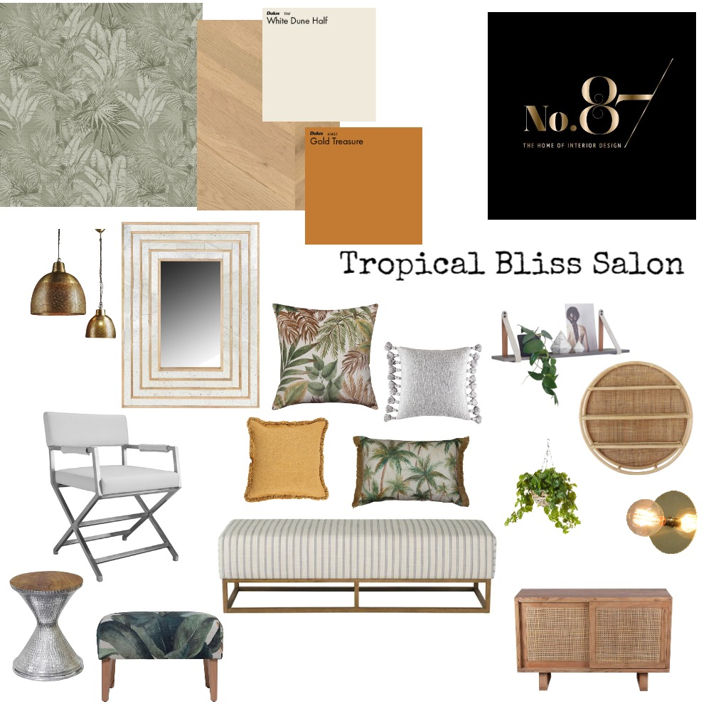 Tropical Bliss Salon Interior Design Mood Board by The Home of Interior Design on Style Sourcebook