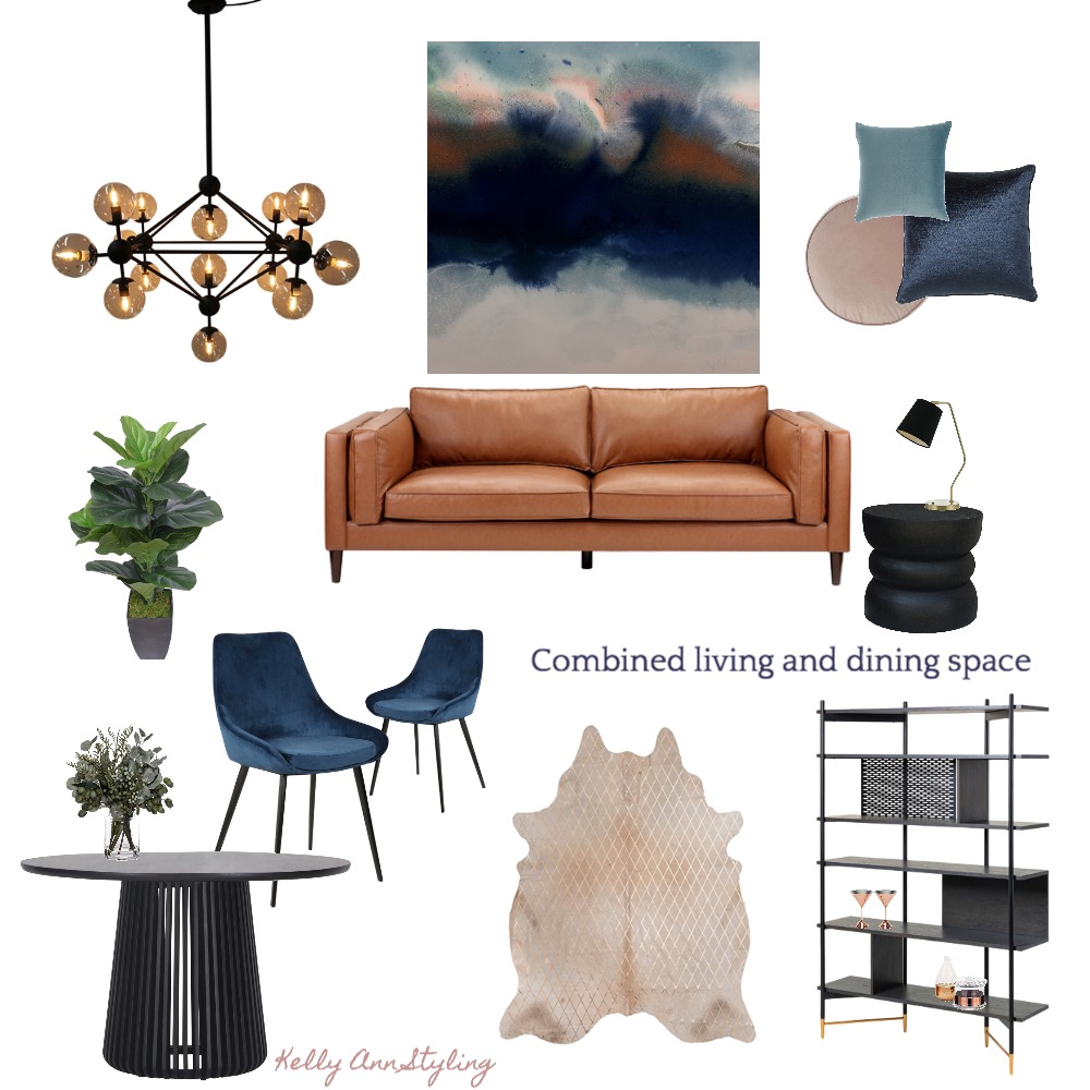 combined living and dining Interior Design Mood Board by Kelly on Style Sourcebook