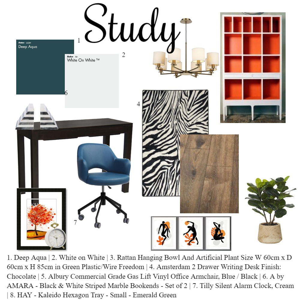study Interior Design Mood Board by saraj2303 on Style Sourcebook
