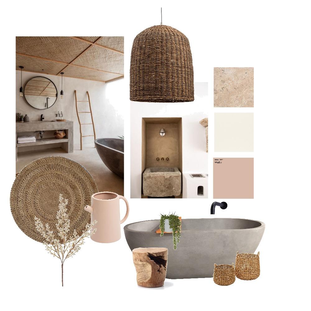 Wabi Sabi Bathroom Interior Design Mood Board by Sophie Lock on Style Sourcebook