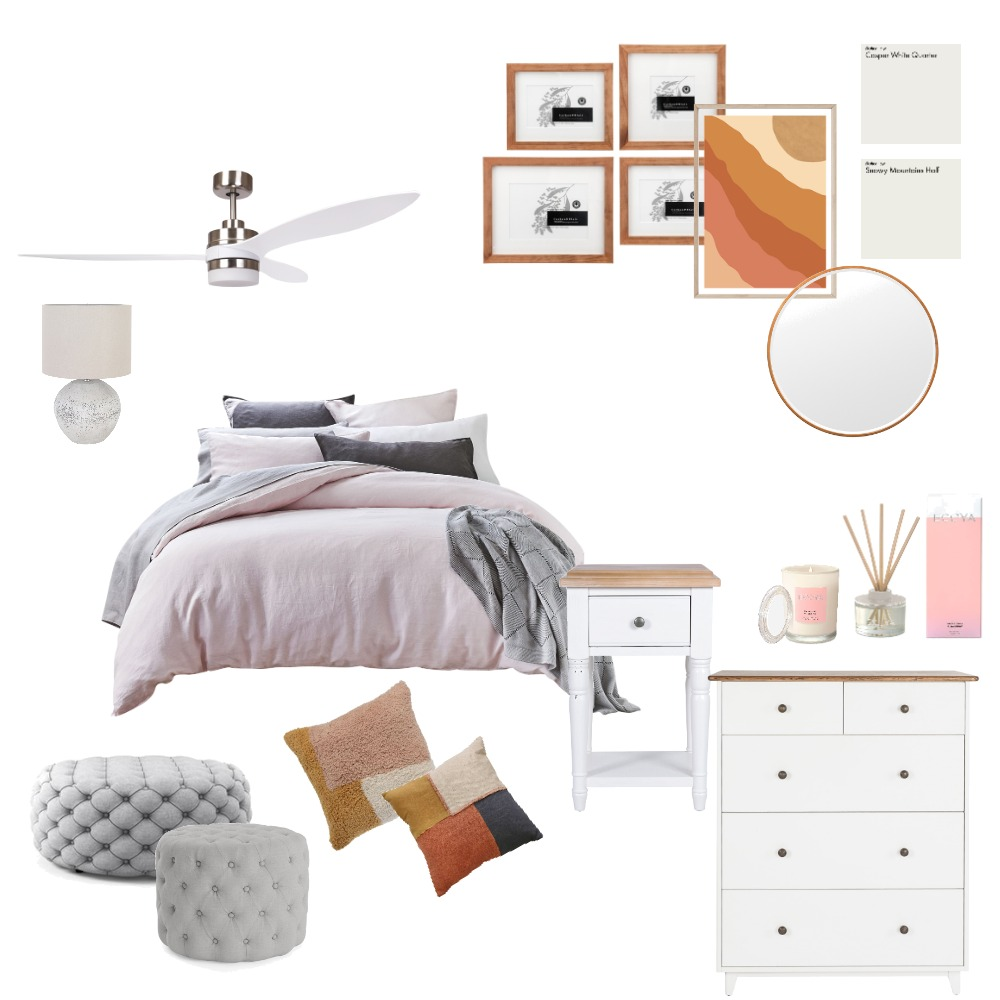 Pink Bedroom Interior Design Mood Board by Ann_ika on Style Sourcebook