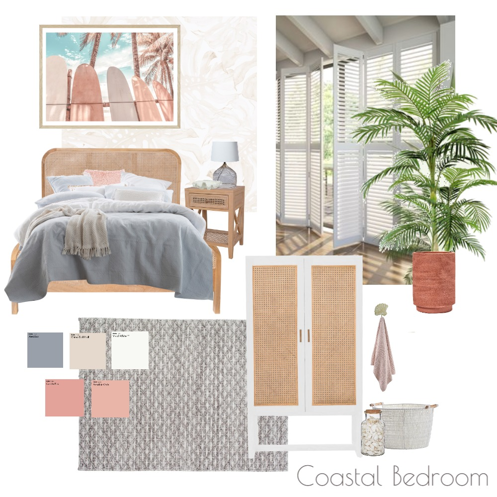 Coastal Bedroom Interior Design Mood Board by Kim Bongers on Style Sourcebook