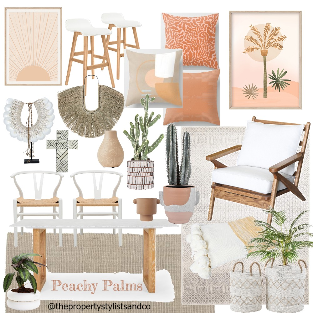 PeachyPalms Interior Design Mood Board by The Property Stylists and Co on Style Sourcebook