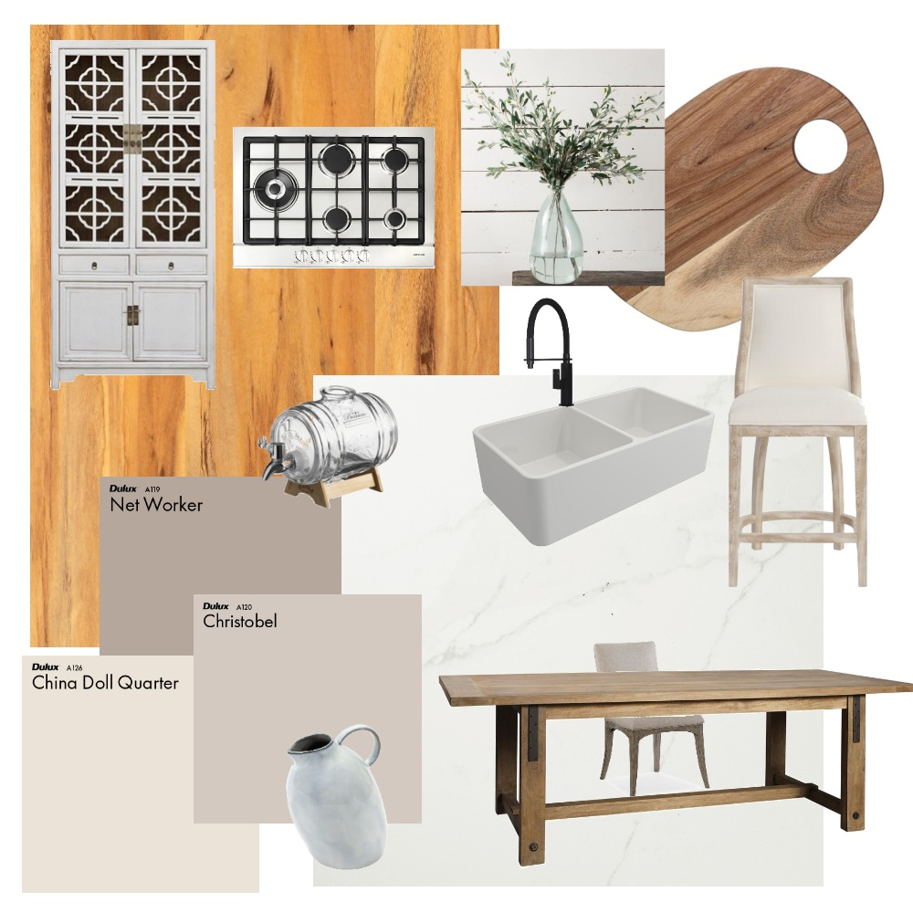 Modern Farmhouse Interior Design Mood Board by jesshaddad on Style Sourcebook
