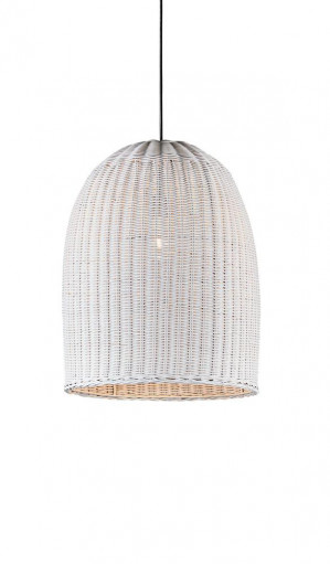 Bowie Pendant Medium White by Emac & Lawton, a Pendant Lighting for sale on Style Sourcebook