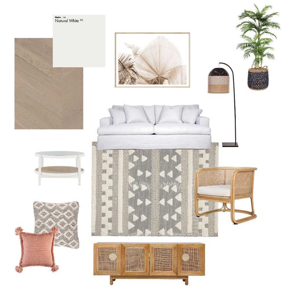 Coastal Boho Interior Design Mood Board by Reflective Styling on Style Sourcebook