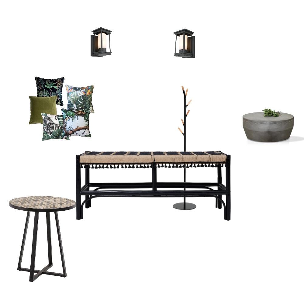 Concrete Jungle Entry Interior Design Mood Board by Noviana's Interiors on Style Sourcebook