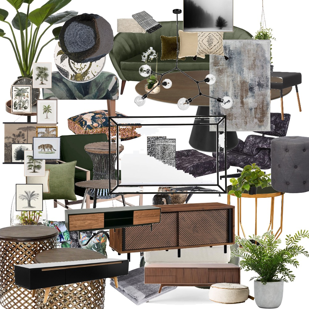 Concrete Jungle Living room Interior Design Mood Board by Noviana's Interiors on Style Sourcebook