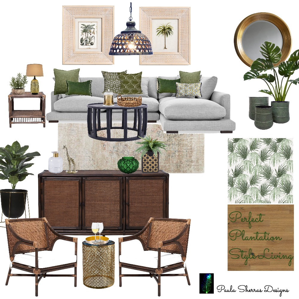 Plantation Style Living Interior Design Mood Board by Paula Sherras Designs on Style Sourcebook