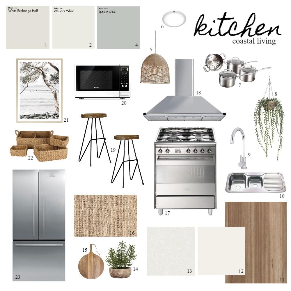Kitchen - Coastal Living Interior Design Mood Board by Nook Interior Design + Styling on Style Sourcebook