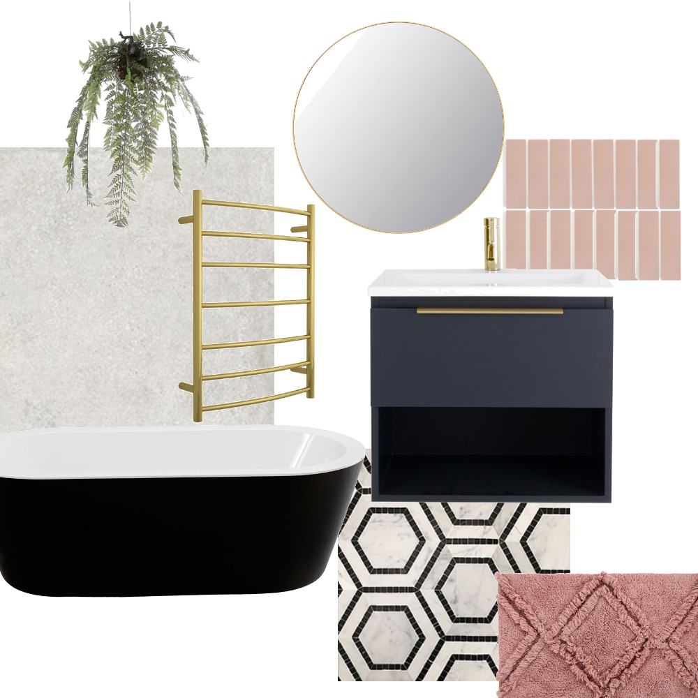 blushed bathroom Interior Design Mood Board by Just GorJess Interiors on Style Sourcebook