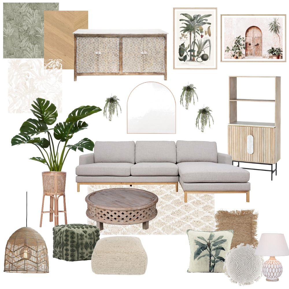 MUTED TROPICS Interior Design Mood Board by Whitni K. Murase on Style Sourcebook
