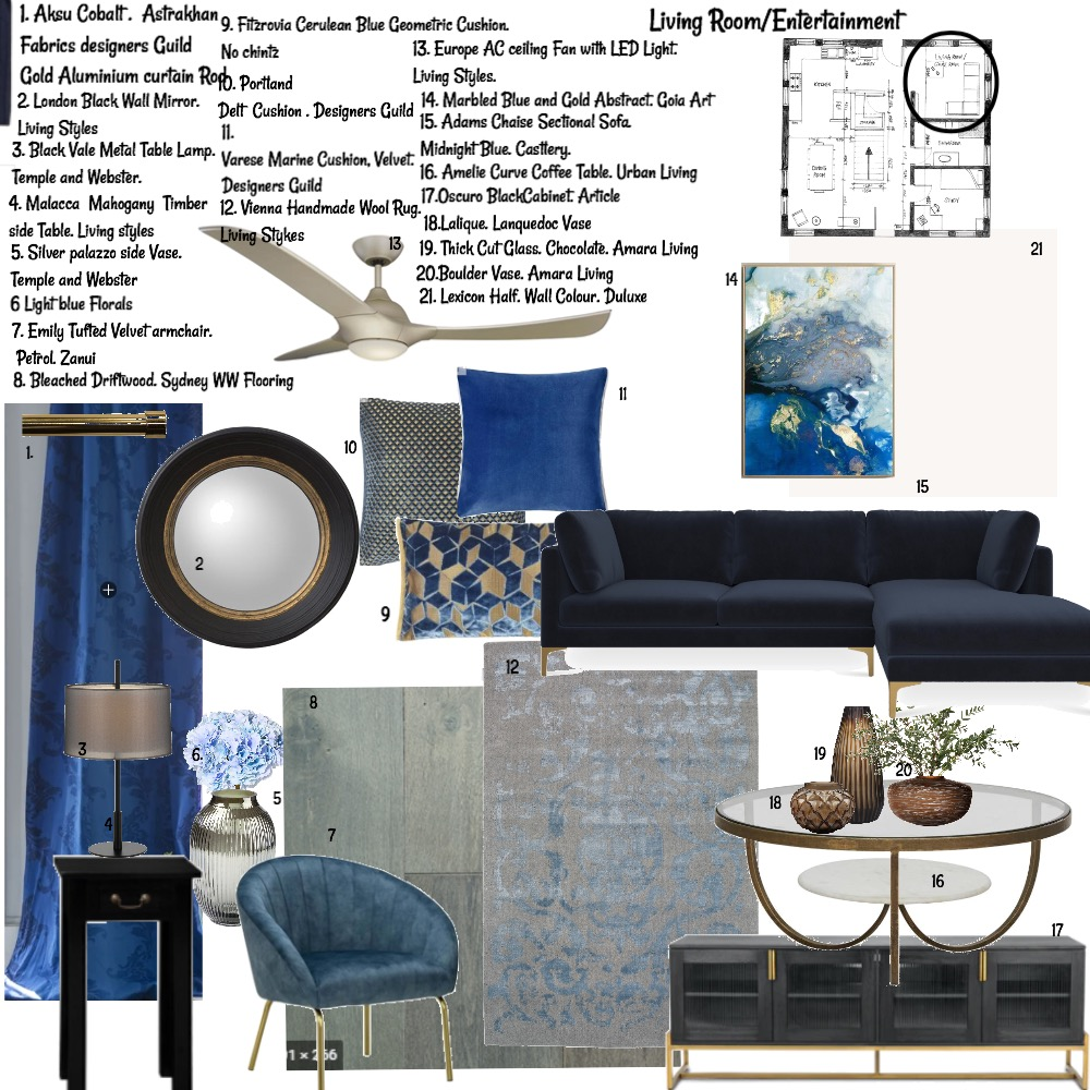 Living Room Interior Design Mood Board by Balazs Interiors on Style Sourcebook