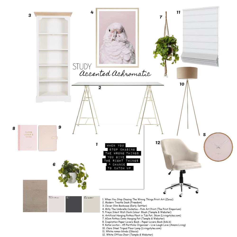 Study Interior Design Mood Board by mtammyb on Style Sourcebook