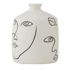 Home Republic Abstract Vase White/black Dia11xH21cm - Whiteblack By Adairs by Adairs, a Vases & Jars for sale on Style Sourcebook