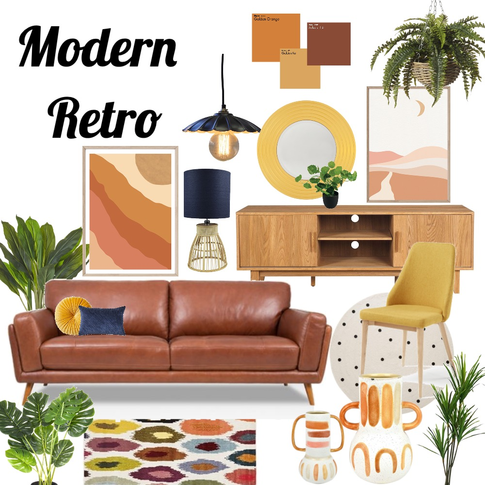 Modern Retro Interior Design Mood Board by Shiulee Mazumdar on Style Sourcebook