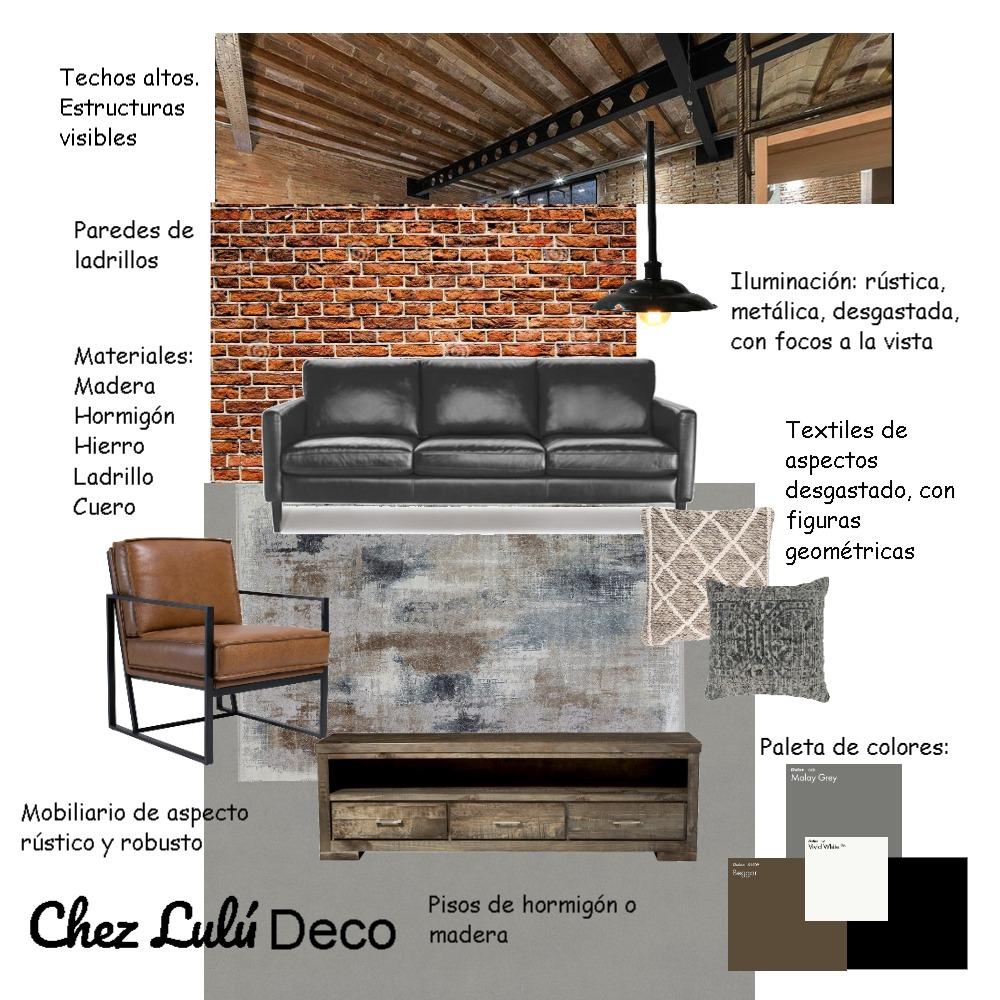 Estilo Industrial Interior Design Mood Board by Chez Lulú Deco on Style Sourcebook