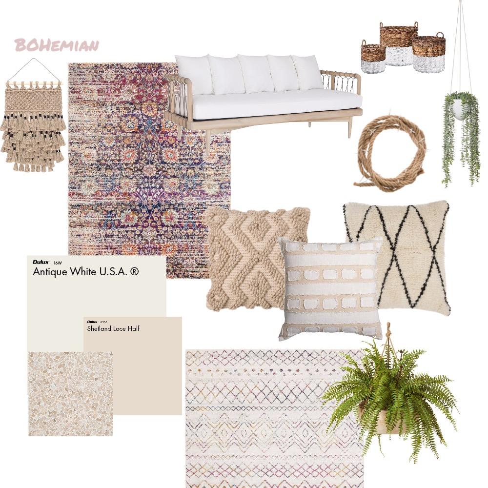 Boho Interior Design Mood Board by kyliewoolen on Style Sourcebook