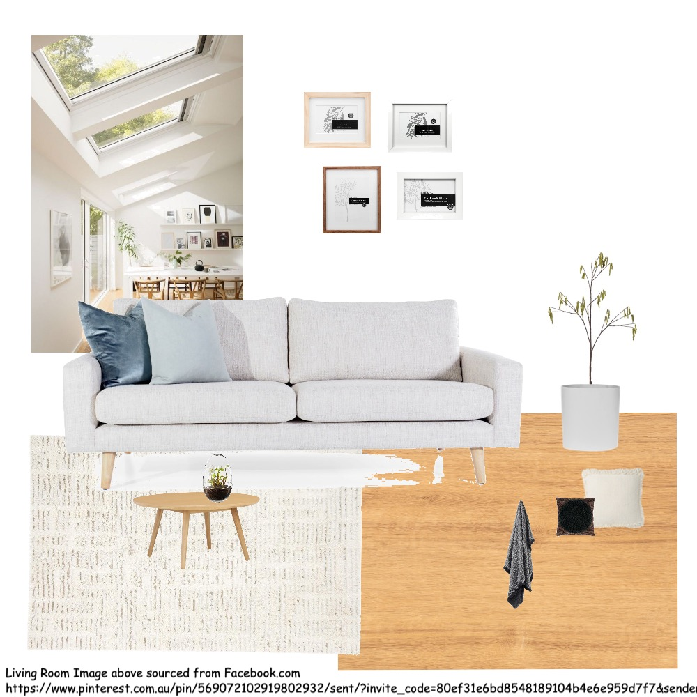 Scandinavian Living Room Interior Design Mood Board by Yueting on Style Sourcebook