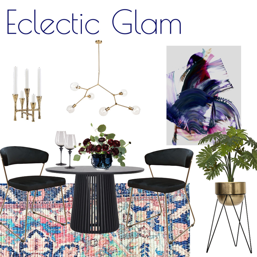 Eclectic Energy Dining Interior Design Mood Board by Kohesive on Style Sourcebook