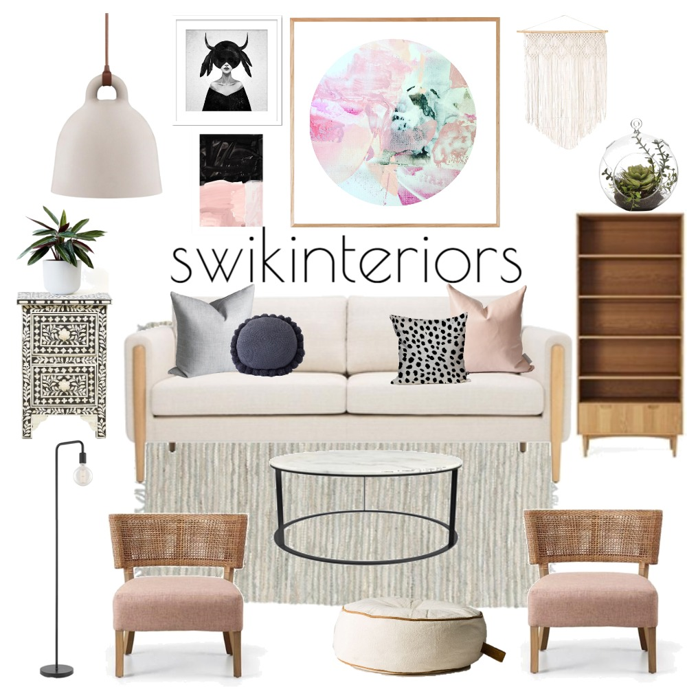 CASUAL CHIC LIVING Interior Design Mood Board by SWIK Interiors on Style Sourcebook
