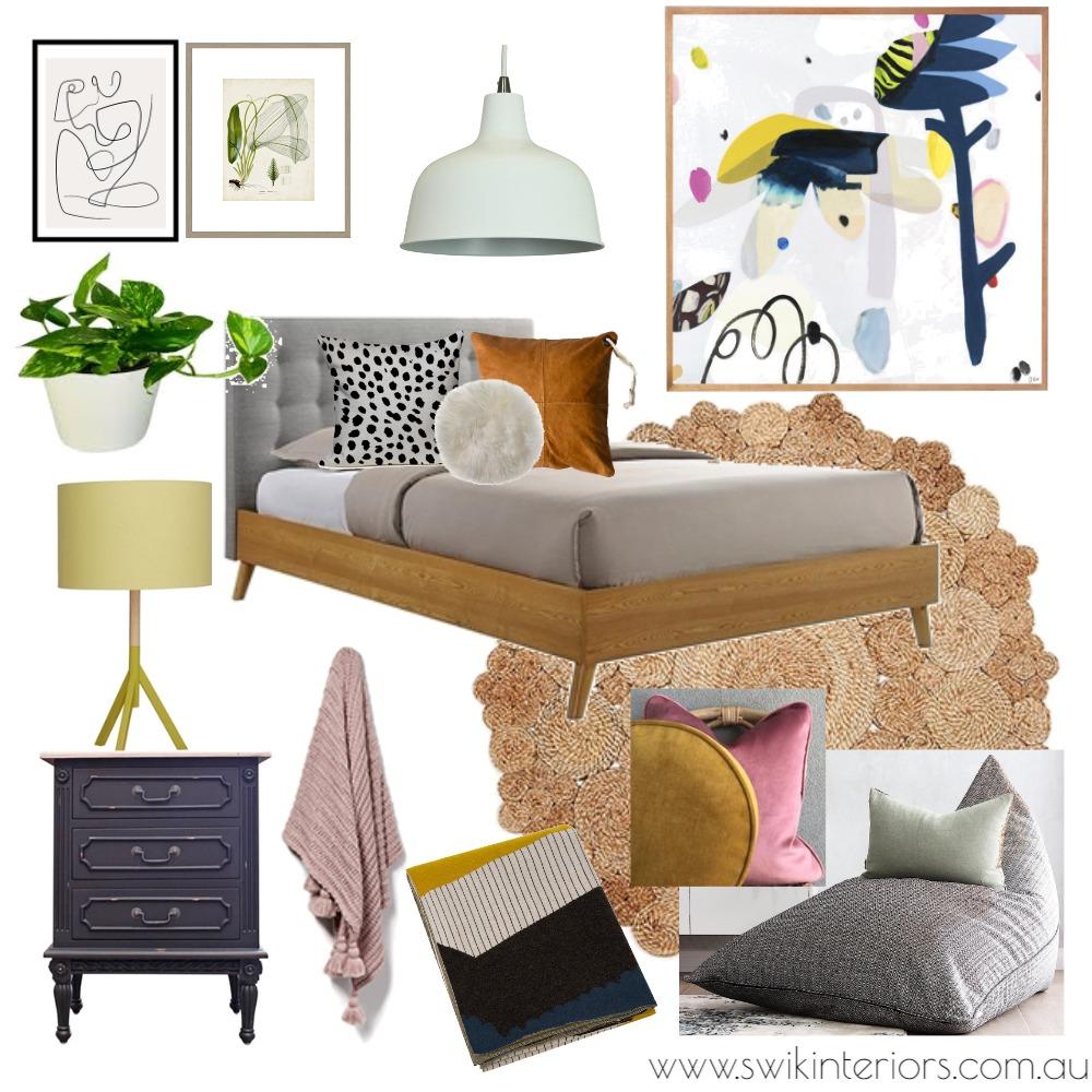 Modern Bedroom Interior Design Mood Board by SWIK Interiors on Style Sourcebook