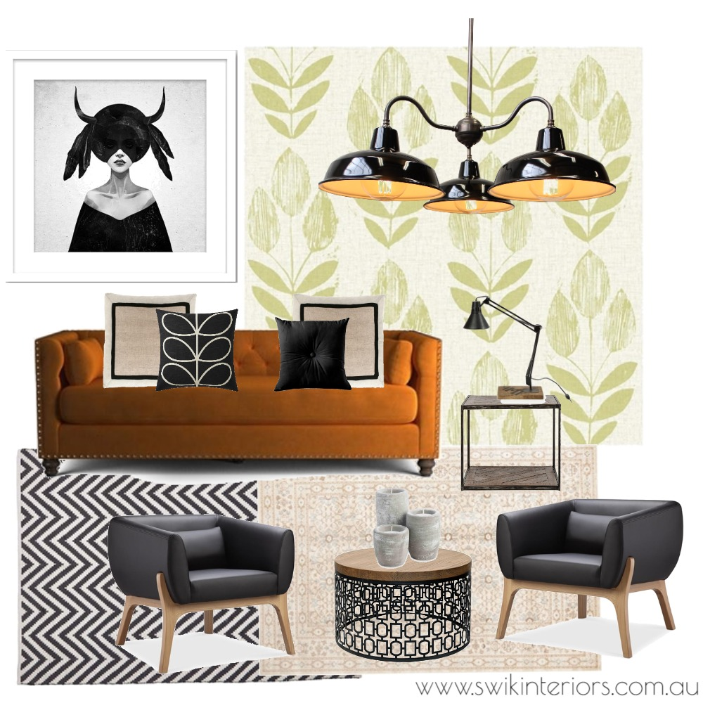 Edgy modern living Mood Board by SWIK Interiors on Style Sourcebook