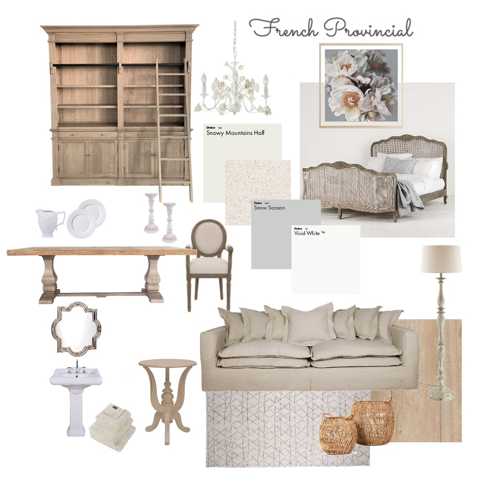 French Provincial Interior Design Mood Board by ejbrad on Style Sourcebook
