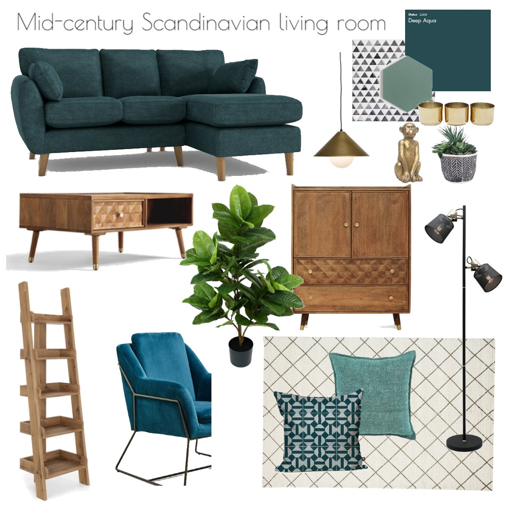 Mid-century Scandinavian apartment Interior Design Mood Board by Eleni on Style Sourcebook