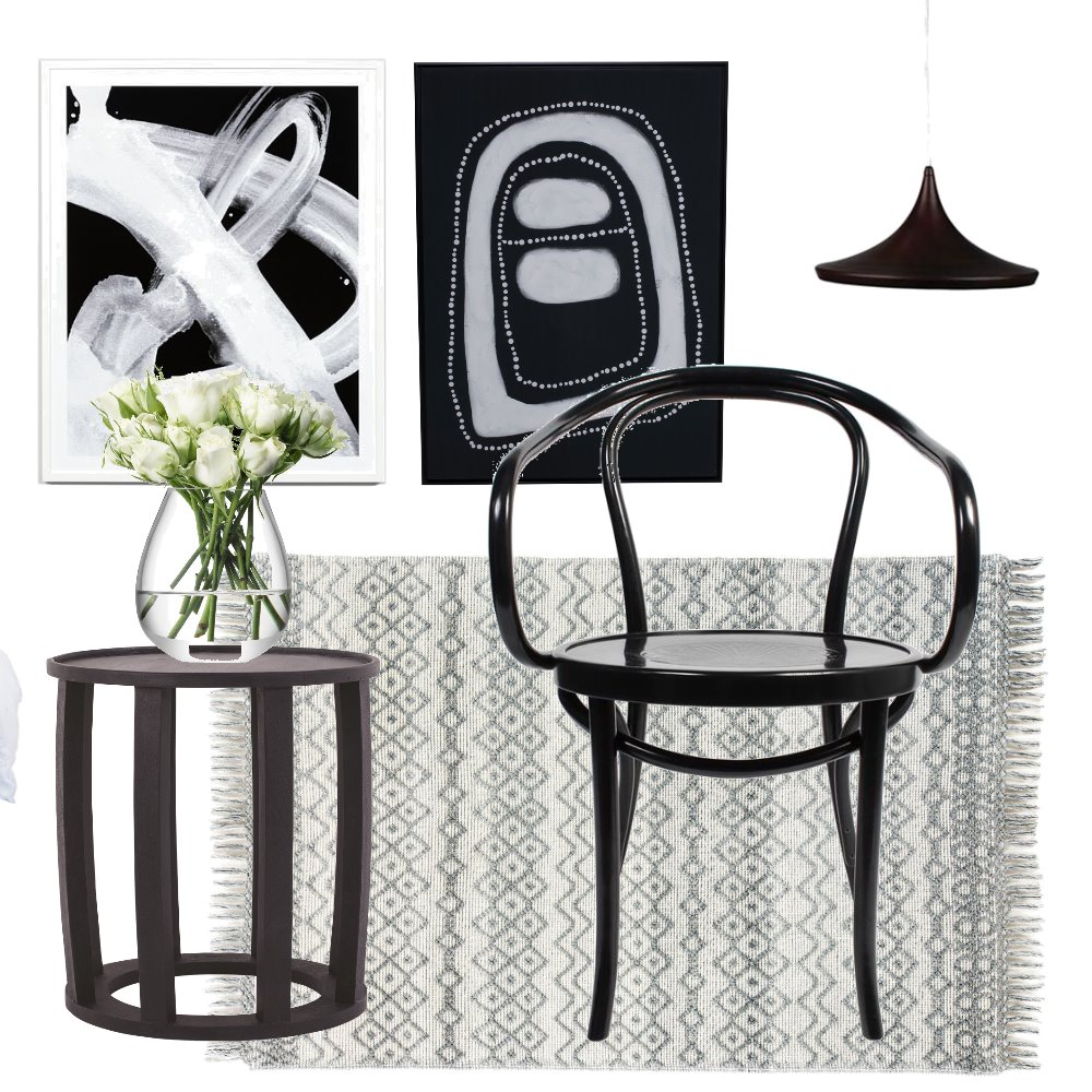 black lounge Interior Design Mood Board by CourtneyBaird on Style Sourcebook