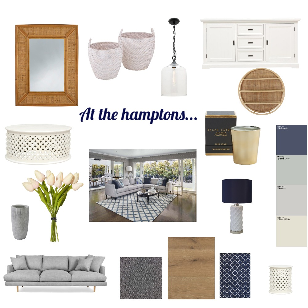 At the hamptons... Interior Design Mood Board by Losalini on Style Sourcebook