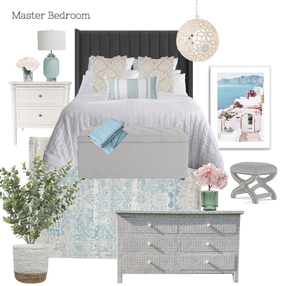 A & M - Master Bedroom Interior Design Mood Board by Abbye Louise on Style Sourcebook