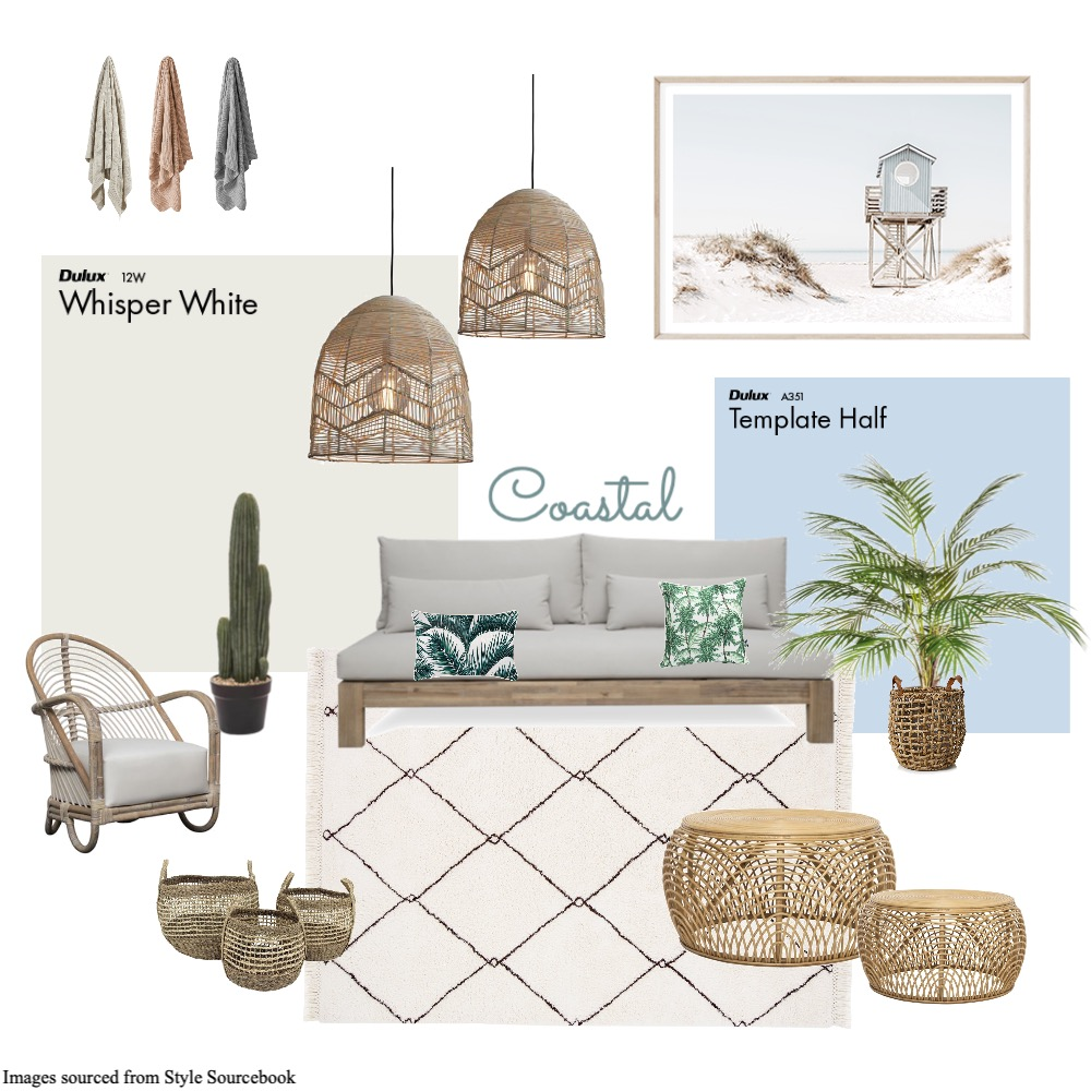 Coastal Lounge Interior Design Mood Board by Bronwen Walker on Style Sourcebook